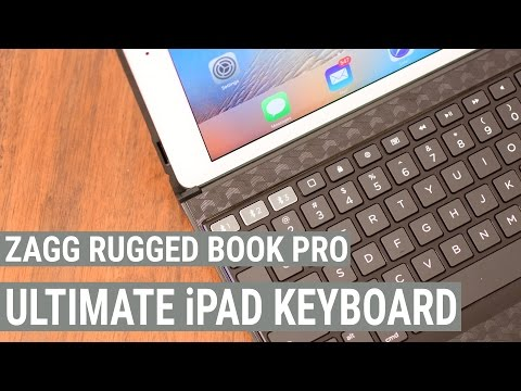 Zagg Rugged Book Pro Backlit Keyboard Case for iPad Pro & iPad Air 2