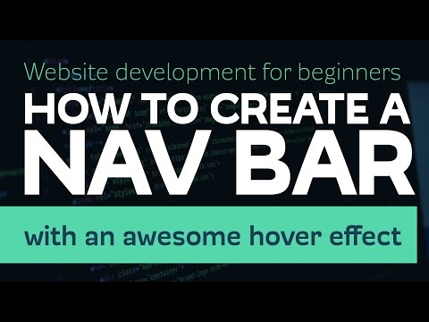 How to create an awesome navigation bar with HTML & CSS