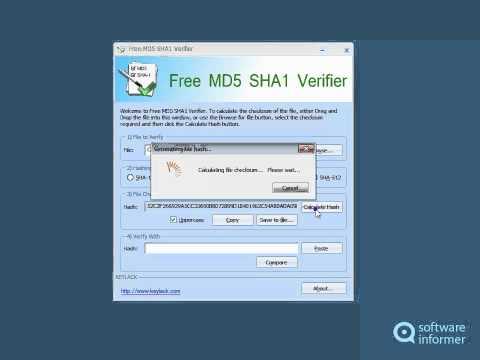 How it works: Free MD5 SHA1 Verifier