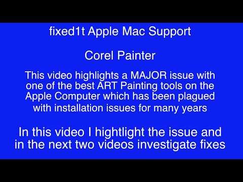 Corel Painter For Apple OSX Crashing On Startup - Part 2