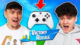 FaZe Jarvis & FaZe Kay Play Fortnite on ONE CONTROLLER