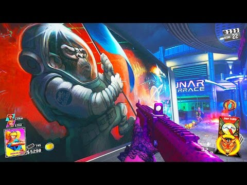 INFINITE WARFARE ZOMBIES - MAIN EASTER EGG BOSS FIGHT GAMEPLAY WALKTHROUGH (ZOMBIES IN SPACELAND)