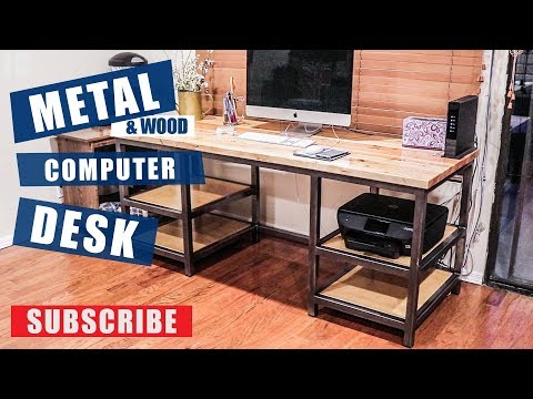 Metal & Wood Computer Desk Build | JIMBOS GARAGE
