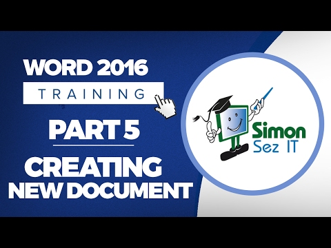 Word 2016 for Beginners Part 5: How to Create a New Blank Document in Word 2016