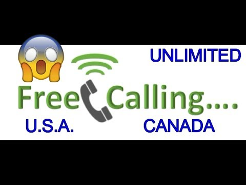 😃 FREE CALLING from Anywhere To USA CANADA | Unlimited free calling