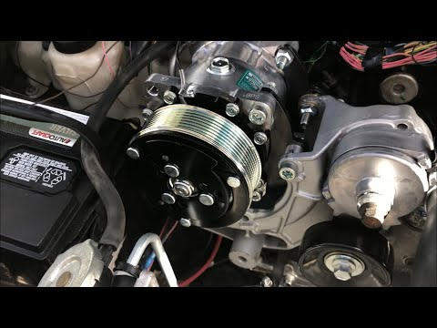R4 to Sanden Dirty Dingo Adapter Install S10 V8 LS/Vortec
