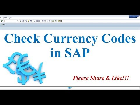 How to Check Currency Codes in SAP