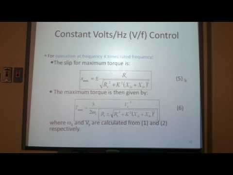 Constant v/f control of induction motor