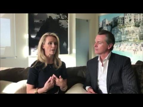 50/50 Day - Lieutenant Governor of CA Gavin Newsom & Jennifer Siebel Newsom