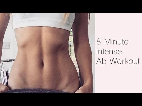 INTENSE FLAT STOMACH WORKOUT - 8 Minutes