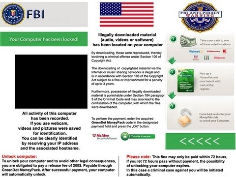 FBI Scam !! Moneypak Virus removal easy technique 100% Working Method.