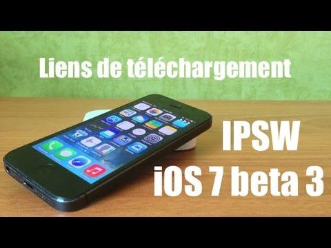 Liens de téléchargement IPSW iOS 7 beta 3 pour iPhone 4/4S/5, iPad 2/3/4/mini et iPod Touch 5