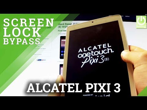 Hard Reset ALCATEL One Touch Pixi 3 - Bypass Pattern Lock by Factory Mode