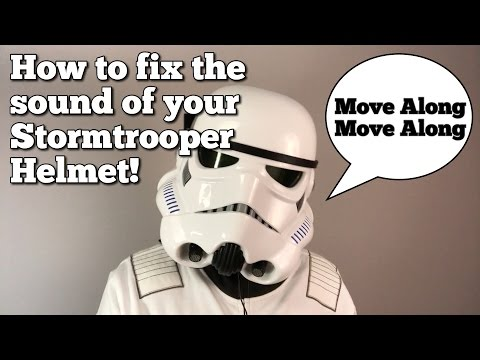 STAR WARS Black Series Stormtrooper Helmet - How to fix the sound effects and make it fit better