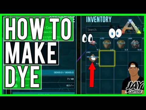 ARK PS4 Tips - How To Craft Paint - How To Make Dye Tutorial