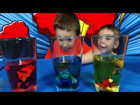 Baking Soda & Vinegar Volcano Experiment For Kids With Captain America, Woody & Spongebob