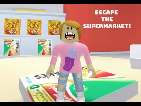 Roblox Escape The Supermarket With Molly! - The Toy Heroes Games