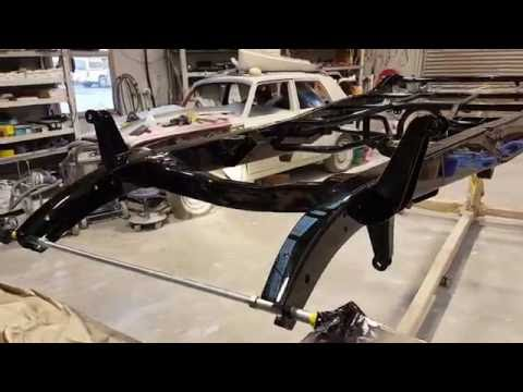 1932 Ford 3 window Coupe Frame Mirror Polish
