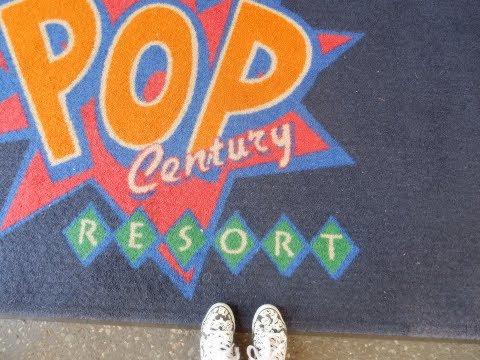 Disney Vacation Travel & Arrival to POP Century