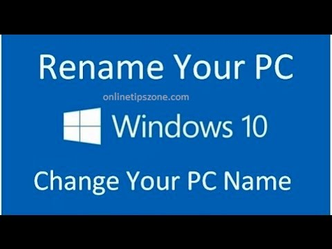How to Change System name on Windows 10, 8