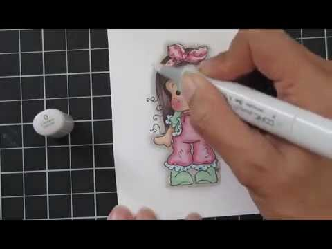 Copic Video: Magnolia - Tilda with Lace Pants