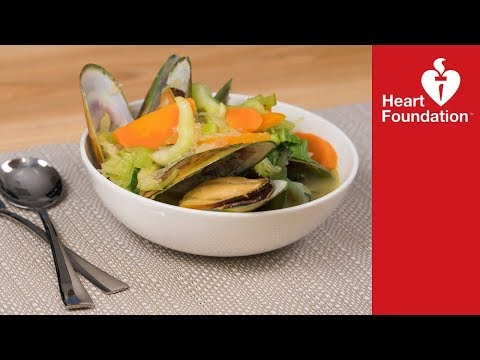 Mussel and bok choy soup   Heart Foundation NZ