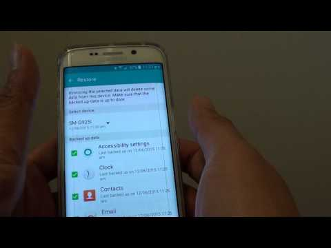 Samsung Galaxy S6 Edge: How to Restore Data and Settings from Backup