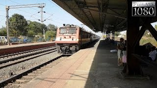 Furious Chennai Express Blistering at 105 Kmph | Express Train Hunting Superfast Air-Condition Train