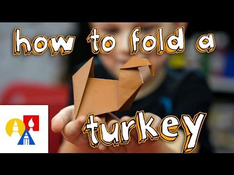 How To Fold An Origami Turkey