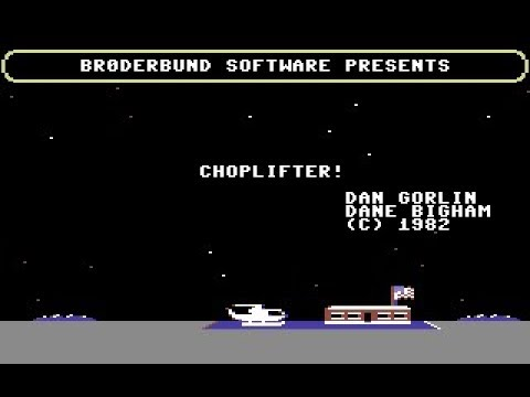 Choplifter! Review for the Commodore 64 by John Gage