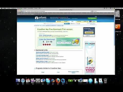 Windows  Programme  auf dem Mac  mit Cross Over!!