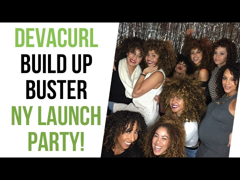 VLOG: DevaCurl Build Up Buster NY Launch Party! | BiancaReneeToday