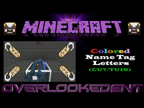 Colored Name Tag Letters (Survival) - Minecraft Xbox/Playstation - [Tutorial]