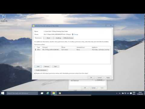 Windows 10 And 8.1 File And Folder Permissions (ACL) Tutorial Video