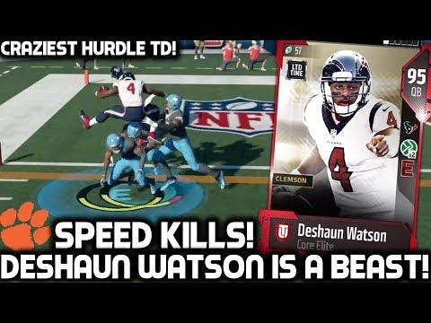 DESHAUN WATSON IS ELECTRIFYING! HURDLES THREE PLAYERS?! Madden 18 Ultimate Team