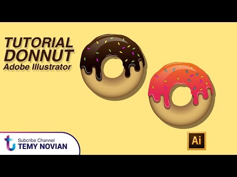 How to make donut in adobe illustrator