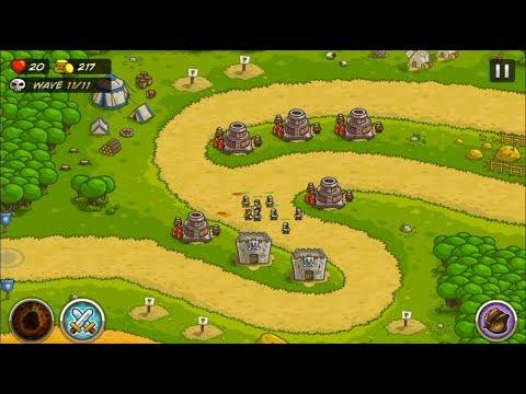 Kingdom Rush - Pagras (Level 3) | 3 stars | Hard | Catch a Fish Achievement - Bombards and Barracks