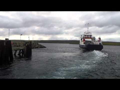 Shetland Islands Council Ferry - MV GEIRA - Leaving Belmont Unst