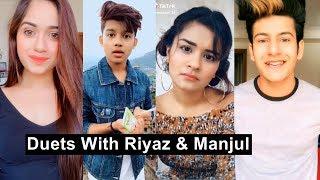 Riyaz Manjul Duets Musically Video With Avneet, Jannat and Cute Girls Best Duets Tiktok