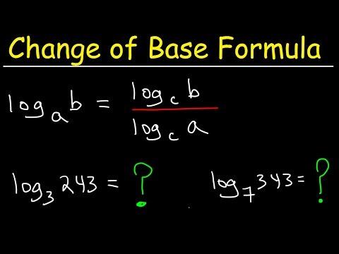 Change of Base Formula - Logarithms
