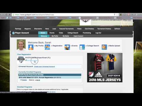 How to upload a birth certificate to your Got Soccer player profile