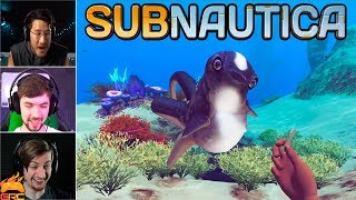 Gamers Reactions to the Cuddle Fish (Cute Fish) | Subnautica