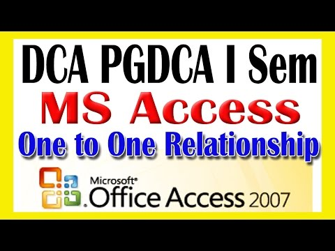 04 MS AccessOne to One Relationship in Tables MS Access 2007