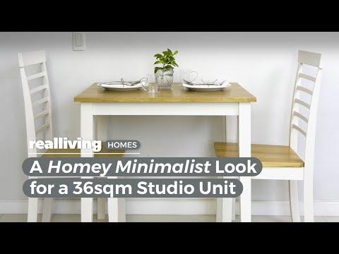 A Homey Minimalist Look for a 36sqm Studio Unit