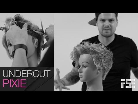Q & Haircut - Undercut Pixie Haircut like Tegan Quin - Step by Step