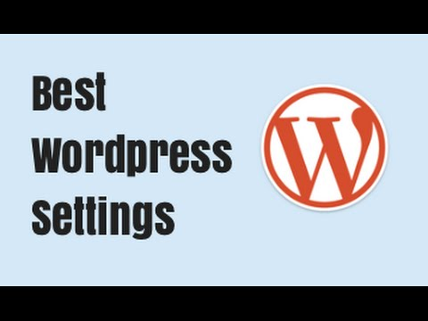 Changing the Wordpress Settings - Setting Up Wordpress
