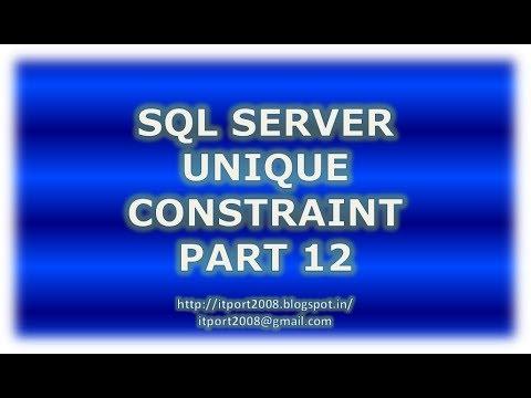 Create, Alter, Drop unique constraint in SQL Server - Part 12