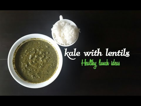 Mashed Kale with lentils-super food lunch ideas