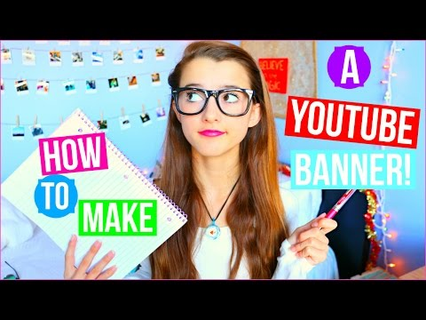 How To Make A Youtube Banner! (YOUTUBE SERIES pt2) | Tatiana Boyd