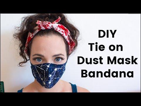 DIY Tie On Dust Mask/Bandana For Burning Man